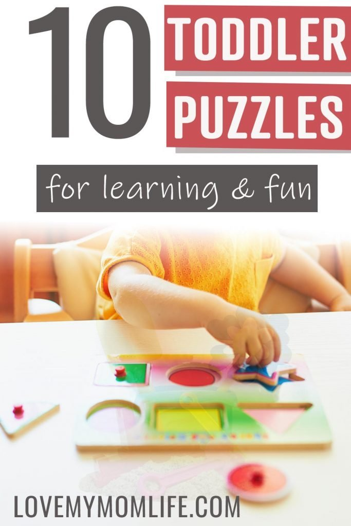 10 Toddler puzzles for learning and fun pinterest pin