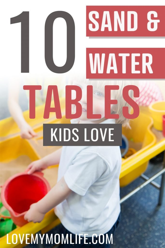 best sand and water tables for kids pin image